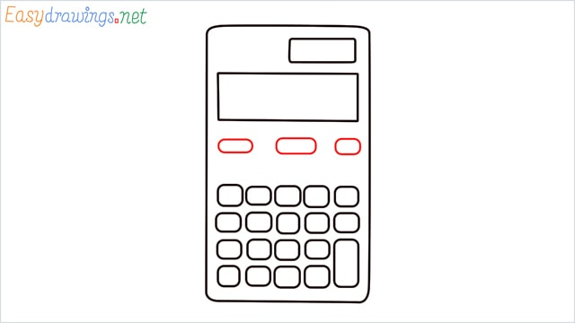 how to draw a calculator step (5)