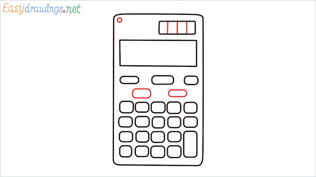 how to draw a calculator step (6)