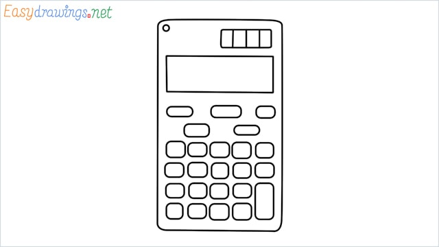 how to draw a calculator step by step for beginners