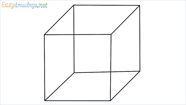 how to draw a cube or box step by step for beginners