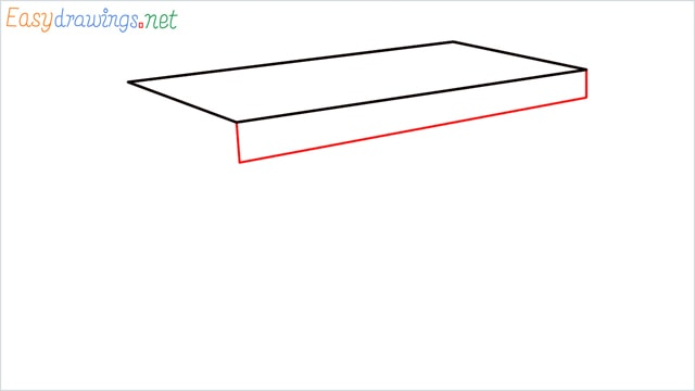 how to draw a desk step (2)