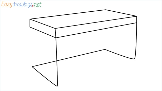 how to draw a desk step by step for beginners