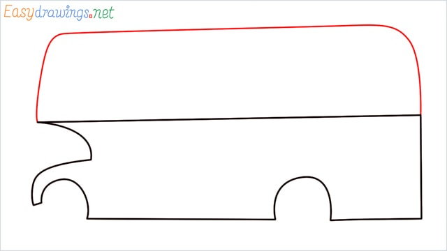 how to draw a double decker bus step (4)
