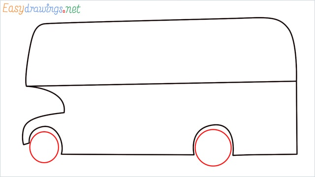 how to draw a double decker bus step (5)