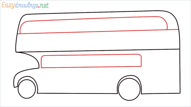 how to draw a double decker bus step (6)
