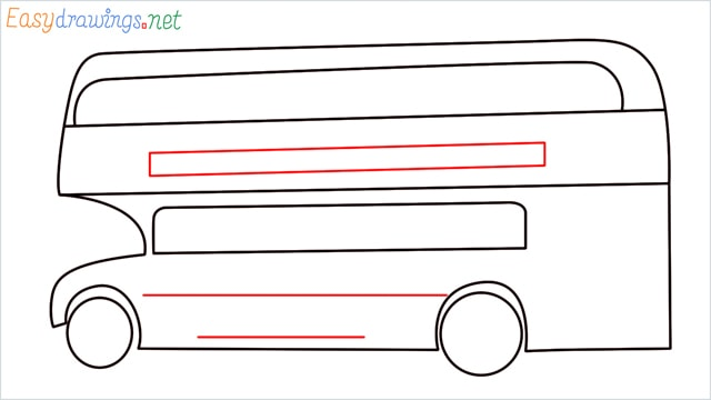 how to draw a double decker bus step (7)