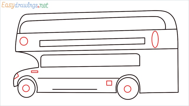 how to draw a double decker bus step (8)