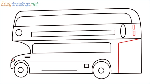 how to draw a double decker bus step (9)
