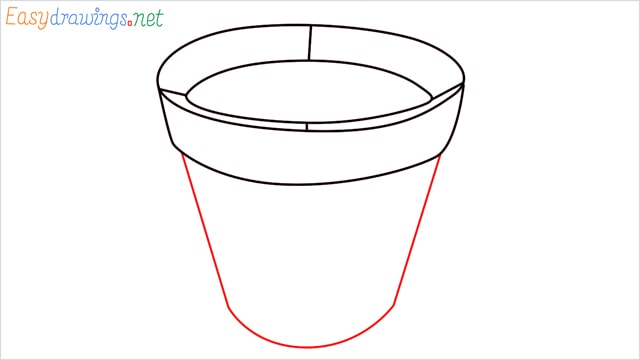 how to draw a flower pot step (5)