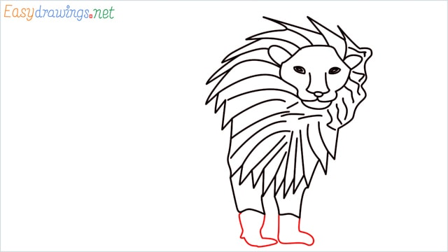 how to draw a lion step (10)