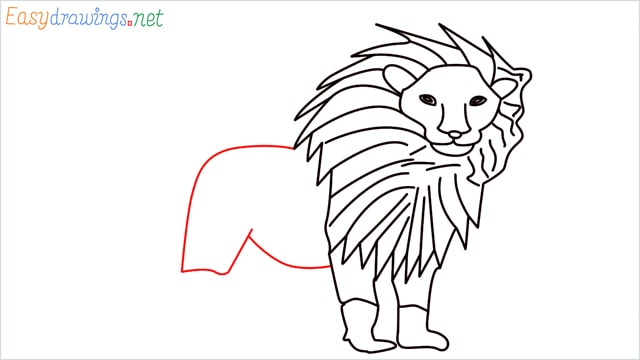 how to draw a lion step (11)