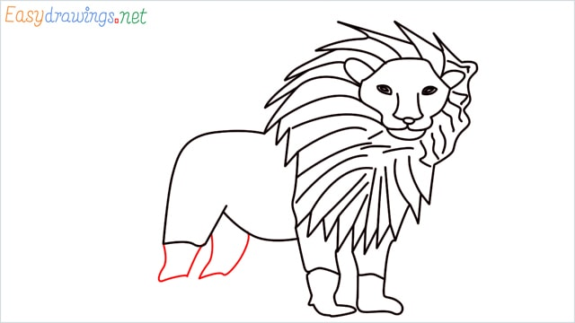 how to draw a lion step (12)