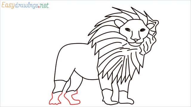 how to draw a lion step (13)