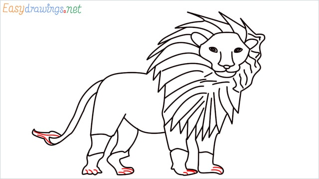 how to draw a lion step (16)