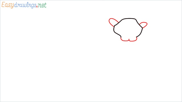 how to draw a lion step (2)