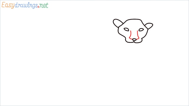 how to draw a lion step (4)