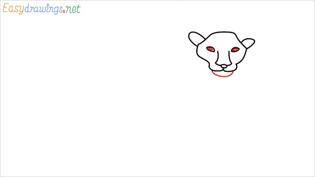 how to draw a lion step (5)