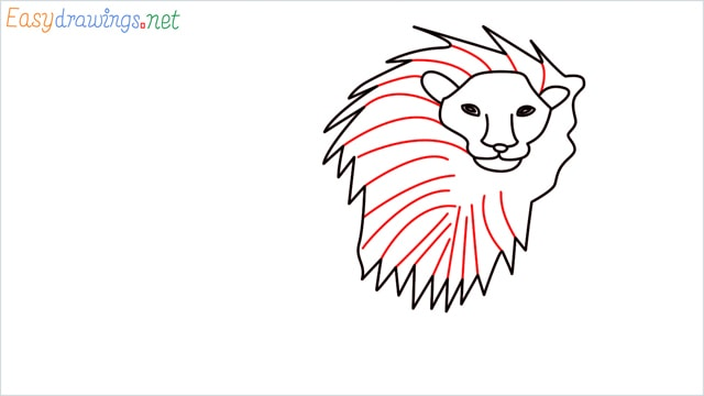 how to draw a lion step (7)
