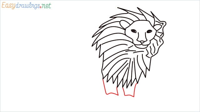 how to draw a lion step (9)