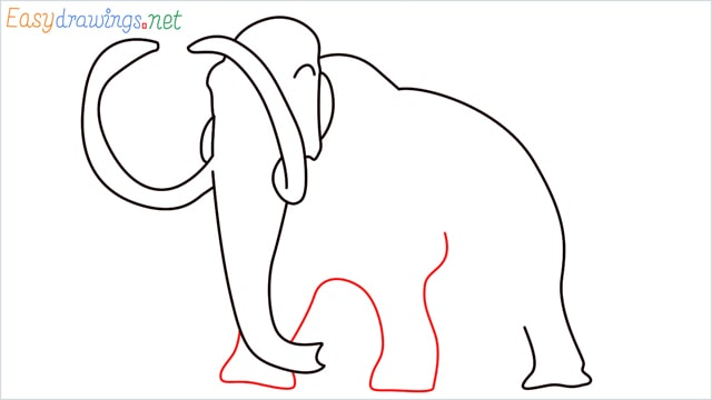 how to draw a mammoth step (7)