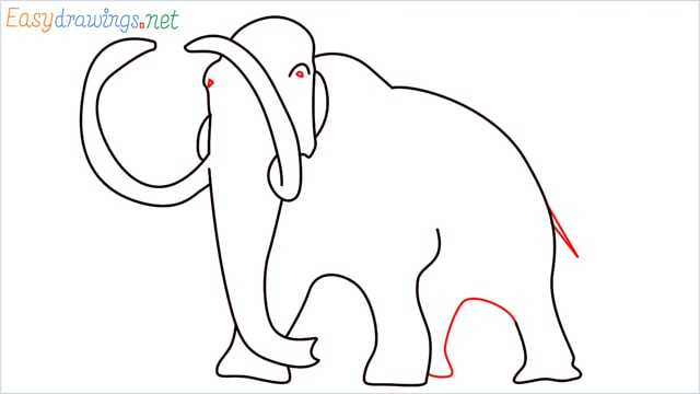 how to draw a mammoth step (8)