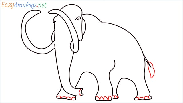 how to draw a mammoth step (9)