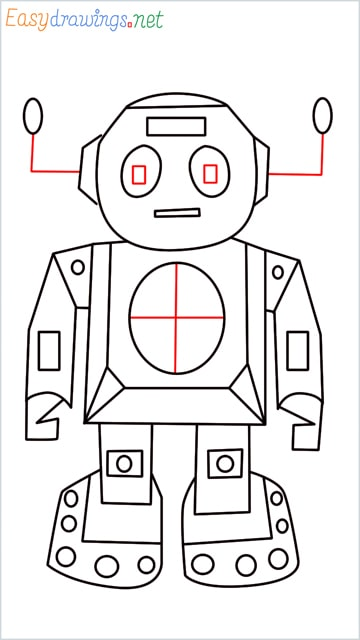 how to draw a robot step (10)