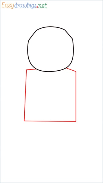 how to draw a robot step (2)