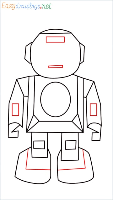 how to draw a robot step (8)