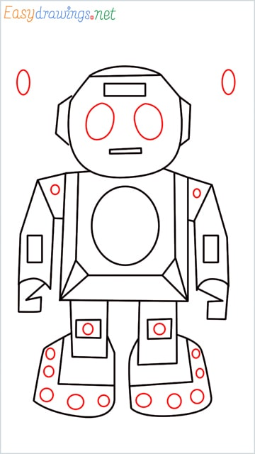 how to draw a robot step (9)