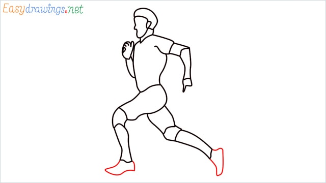 how to draw a runner step (14)