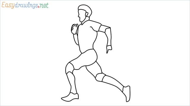how to draw a runner step by step