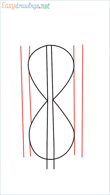 how to draw an hourglass step (3)