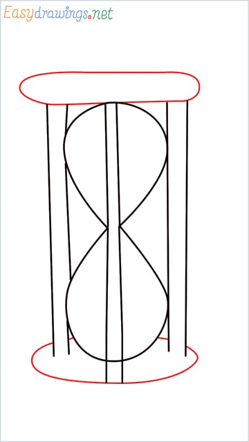 how to draw an hourglass step (4)