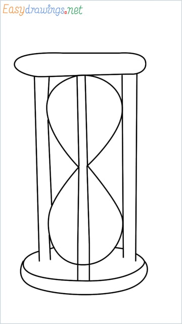 how to draw an hourglass step by step