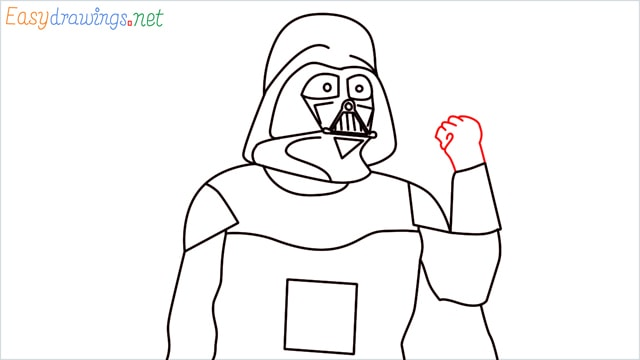 how to draw darth vader step (14)