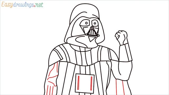 how to draw darth vader step (17)
