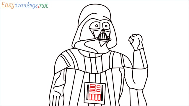 how to draw darth vader step (18)