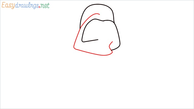 how to draw darth vader step (3)