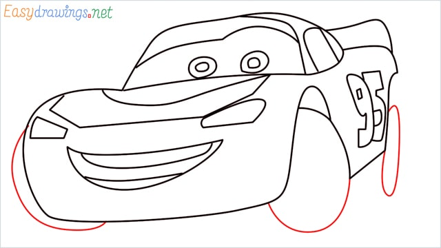 how to draw lightning mcqueen step (11)