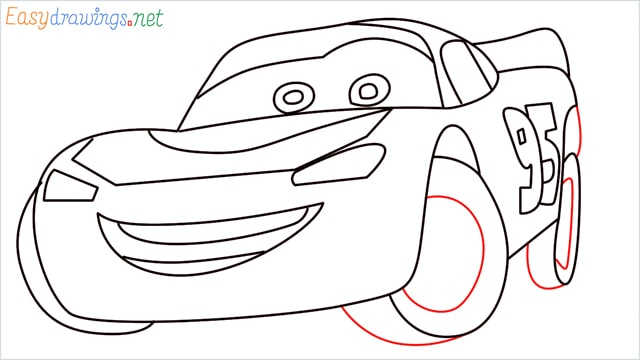 how to draw lightning mcqueen step (12)