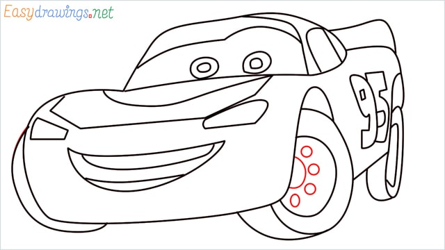 how to draw lightning mcqueen step (13)