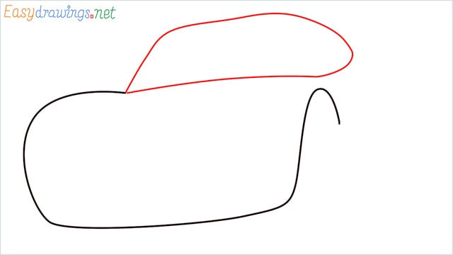 how to draw lightning mcqueen step (2)