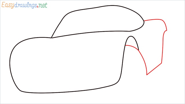 how to draw lightning mcqueen step (3)