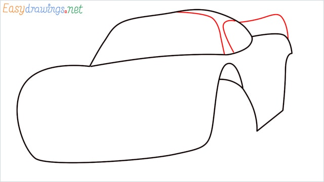 how to draw lightning mcqueen step (4)