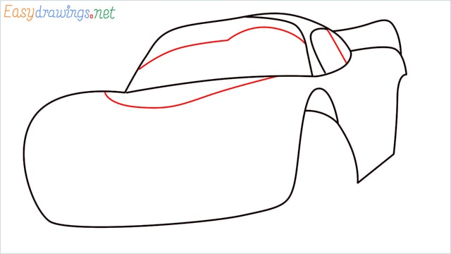 how to draw lightning mcqueen step (5)