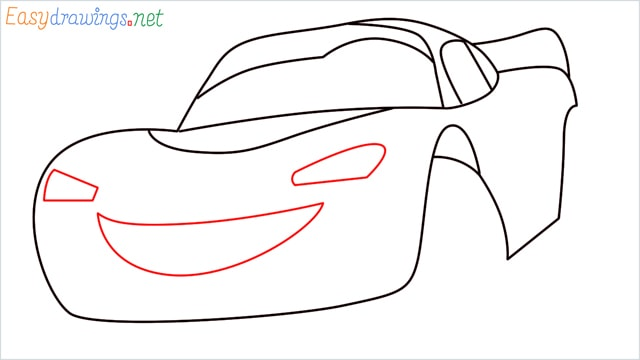 how to draw lightning mcqueen step (6)