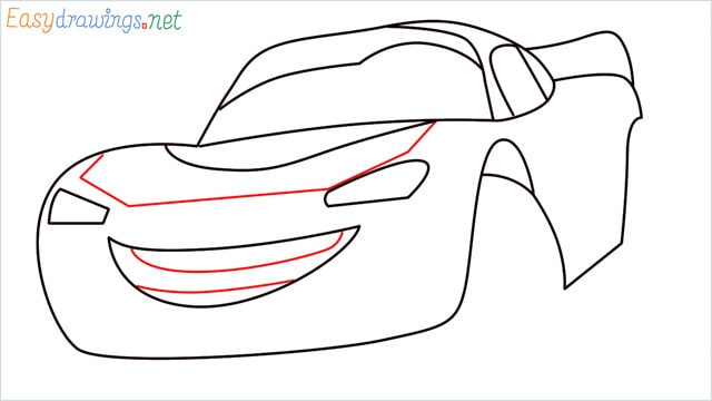 how to draw lightning mcqueen step (7)
