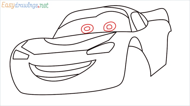 how to draw lightning mcqueen step (8)