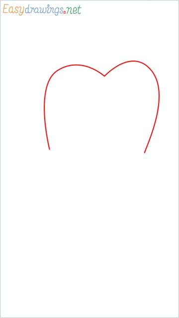 how to draw teeth step (1)